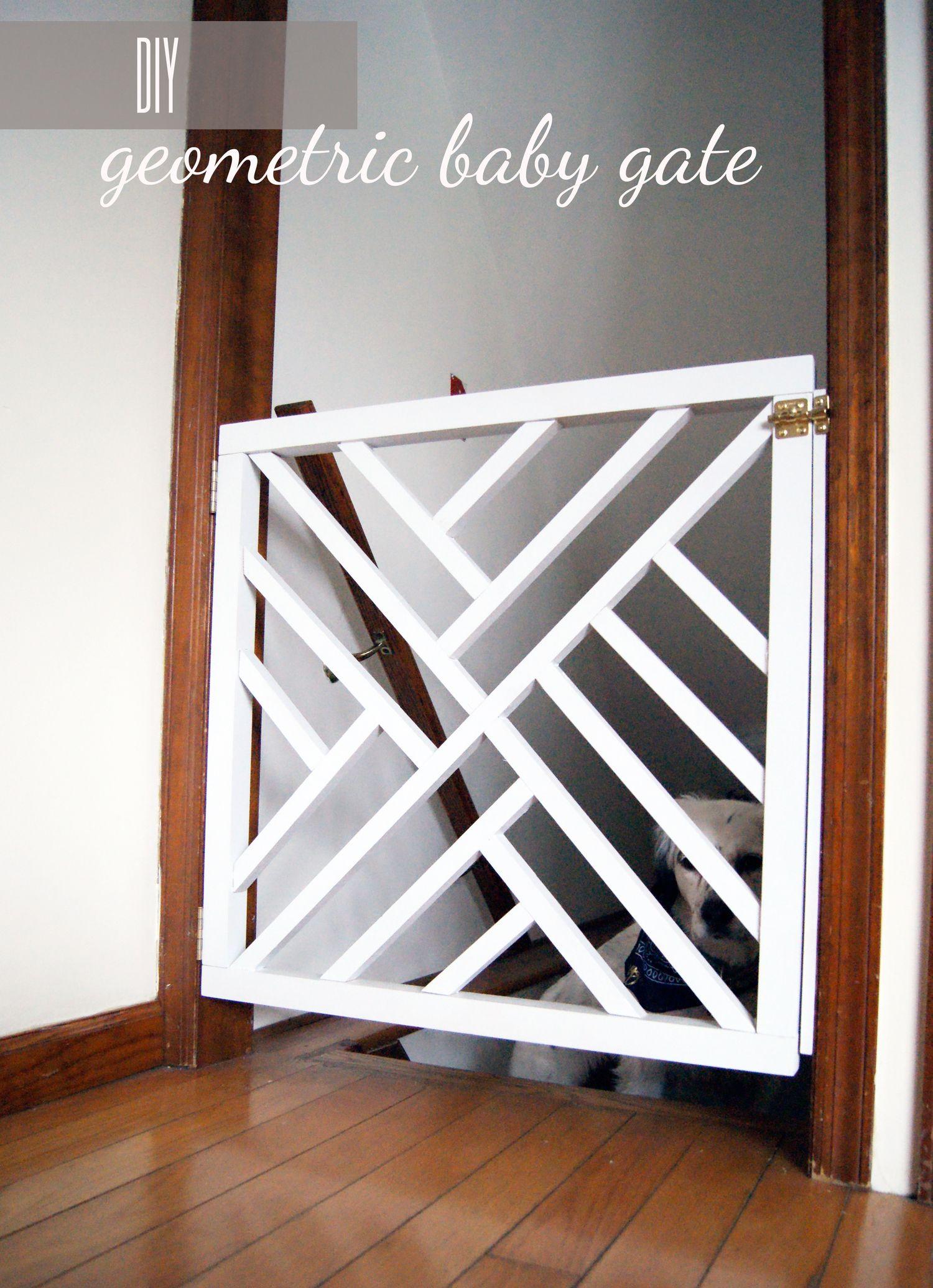DIY Geometric Baby Gate   Diy baby gate, Baby gates and Diy baby