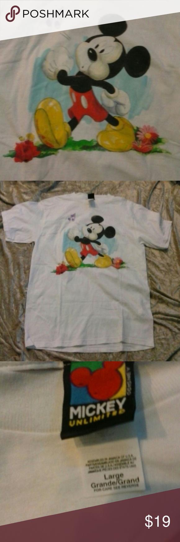 Sale Mickey Mouse T Shirt Vintage Look Sz L Mickey Mouse T Shirt Mickey New Mickey Mouse