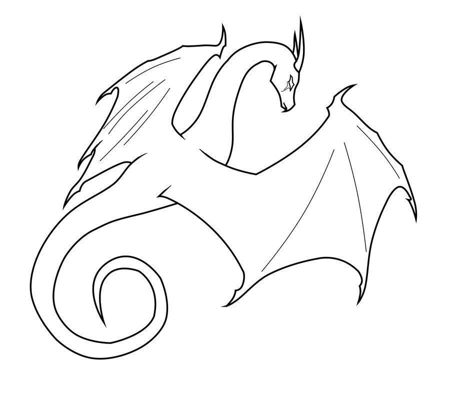 Dragon Outlines Dragon Drawing Easy Dragon Drawings Dragon Artwork
