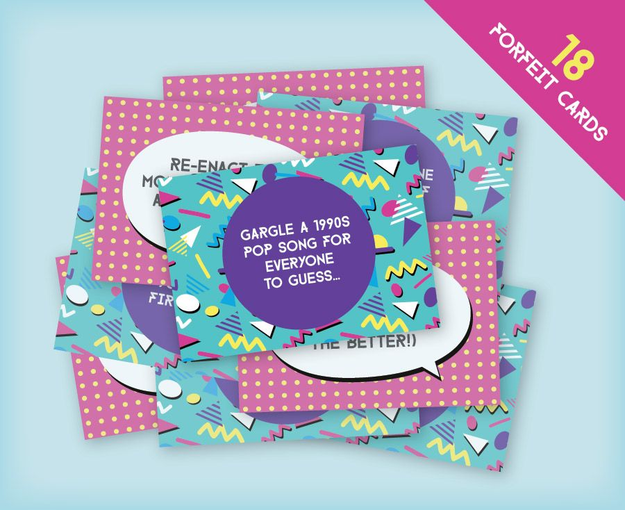 Free 1990s Themed Hen Party Printable Forfeit Cards 18 Adult