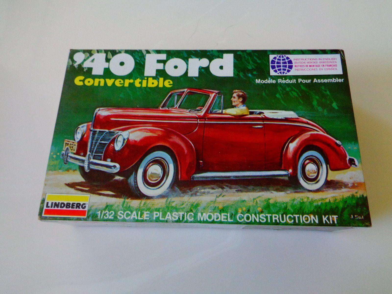 1979 vintage lindberg model kit 1940 ford convertible 1 32 scale ebay