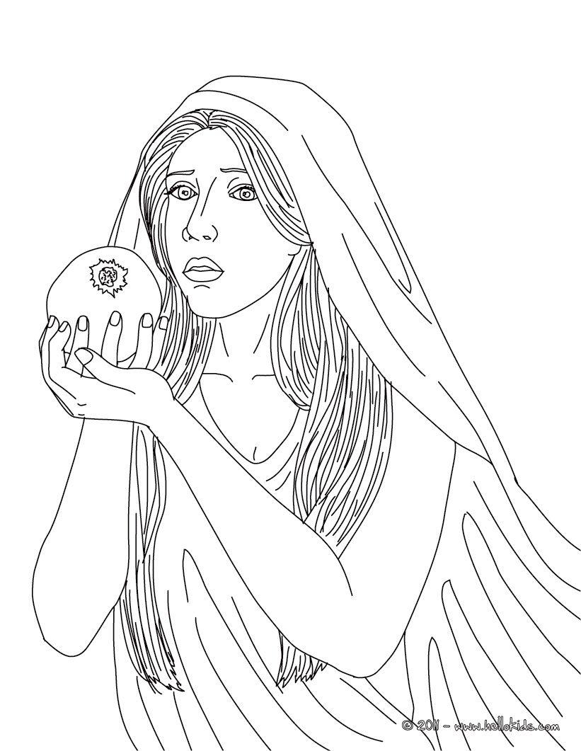 PERSEPHONE griechische Fruchtbarkeitsg ttin zum Ausmalen