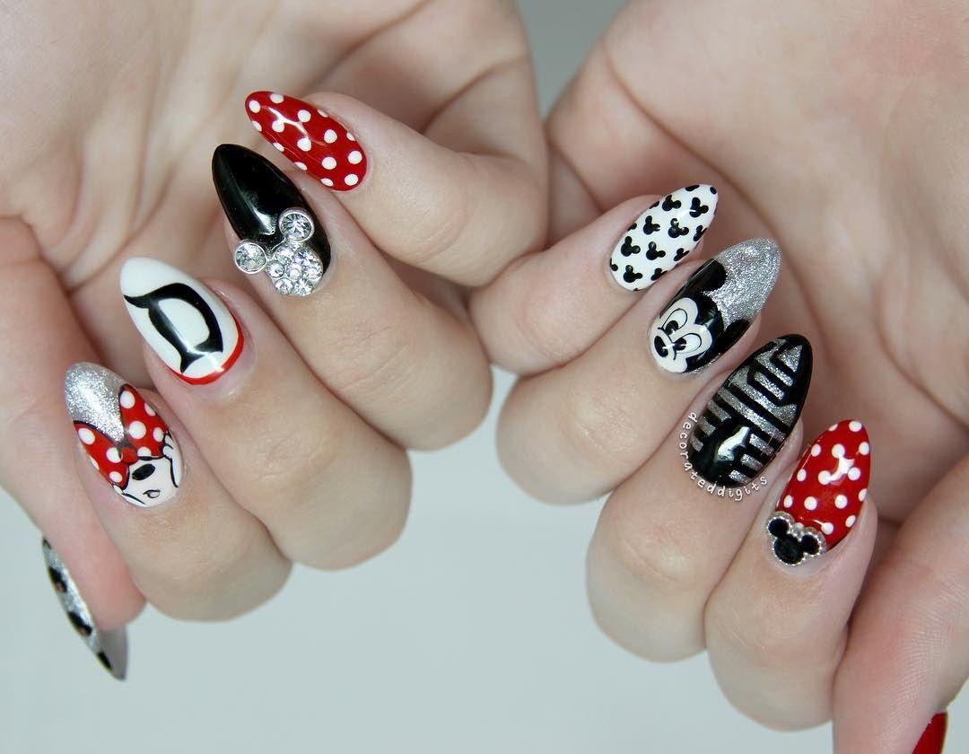 Cute Disney Nails | Todo | Pinterest | Estilo disney, Arte de uñas y ...