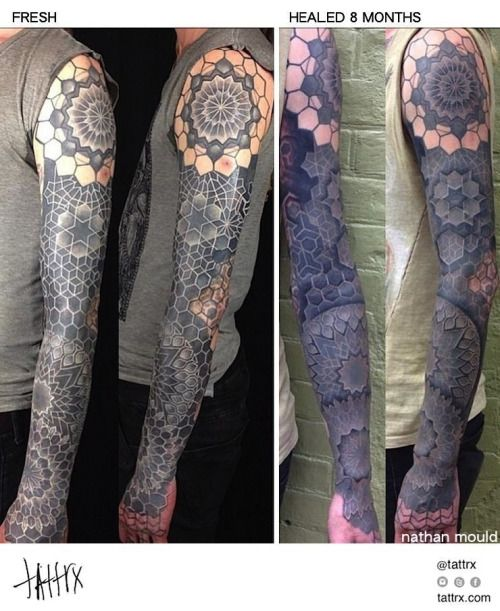 Nathan Mould Tattoo Pittsburgh White Ink On Blackwork Tattrx