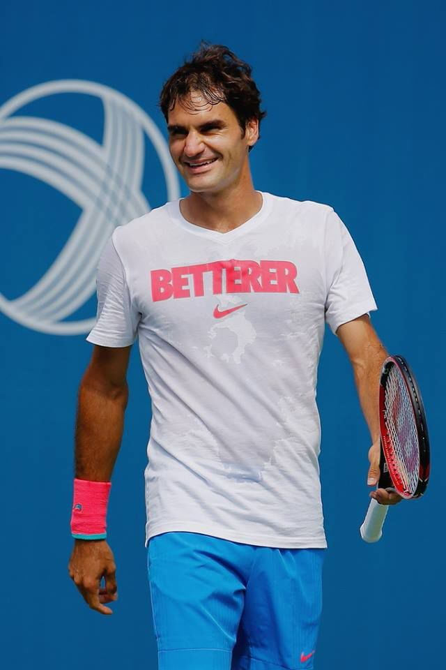 Clever and sweaty. The Betterer shirt. Roger Federer  8f8e71b1f