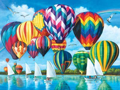 Hot Air Balloons (Puzzle Collector Art 1000)