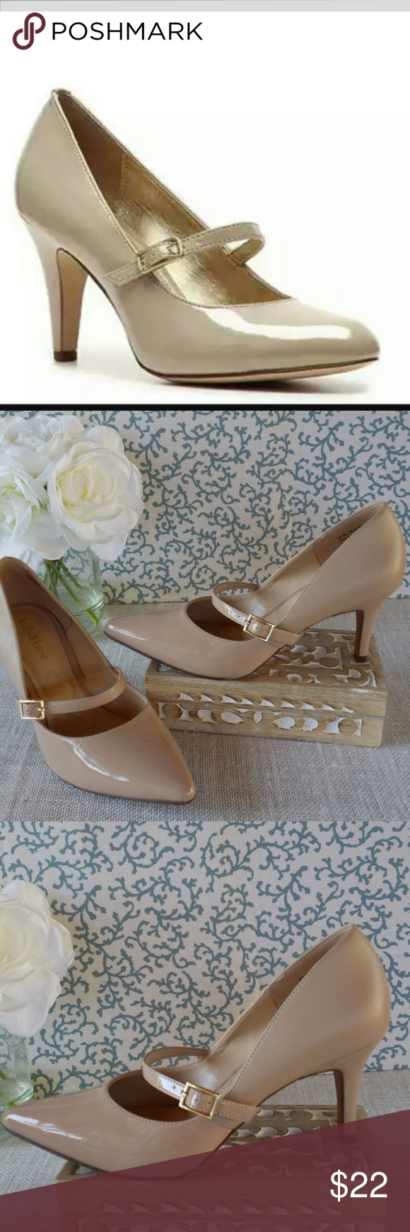 c879345bb1a KELLY   KATIE NUDE MARY JANE PUMPS KELLY   KATIE NUDE MARY JANE PUMPS  ADJUSTABLE STRAPS 3.5