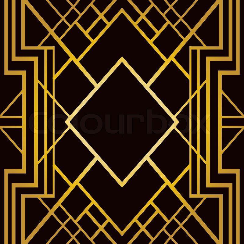 Сток вектор 'Арт-деко геометрическим рисунком (1920-х