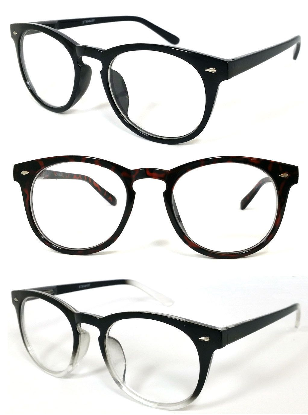 d04f8b59457b  9.49 - Round Clubmaster Clear Lens Blended Almost No Line Bifocal Reading  Glasses Re39  ebay  Fashion