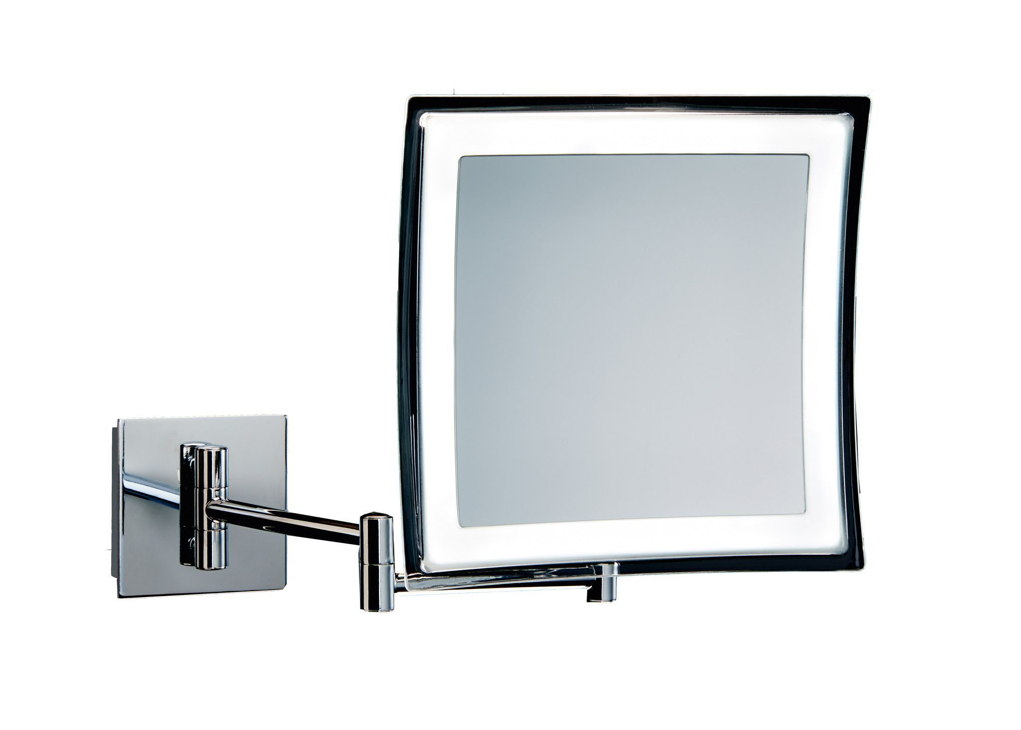 Dwba Square Wall Mounted Cosmetic Makeup 5x Led Light Magnifying