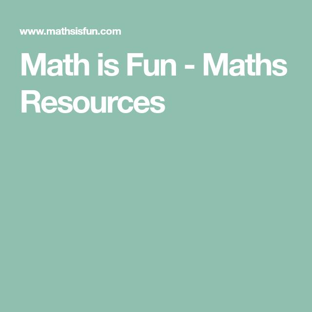 Math is Fun - Maths Resources | Homeschool - Math | Pinterest | Math ...