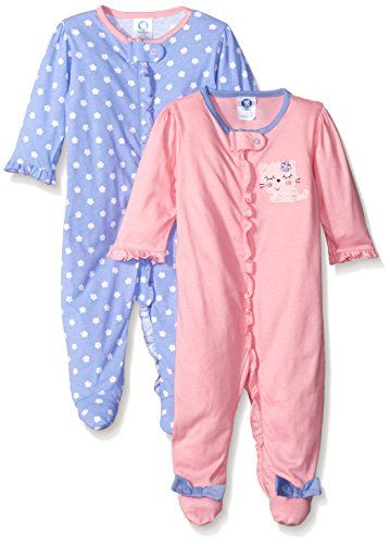 f12f66f13 Gerber Baby Girls 2 Pack Zip Front Sleep  N Play