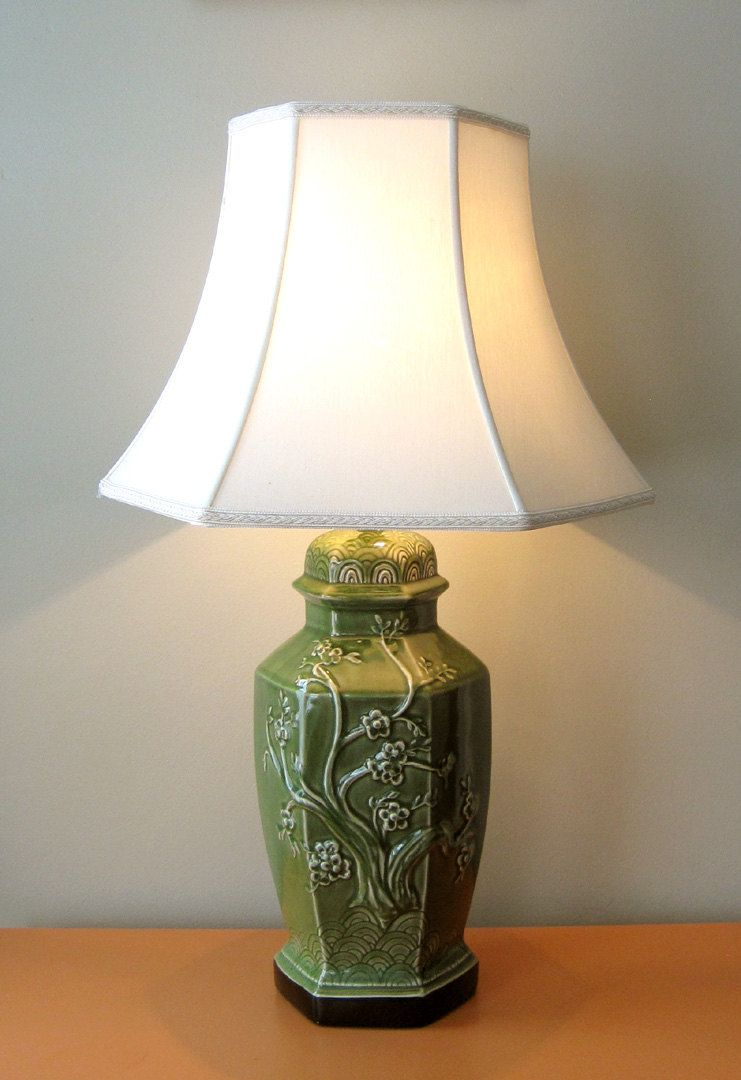 Vintage green chinoiserie lamp chinoiserie vintage and vintage green chinoiserie lamp arubaitofo Choice Image