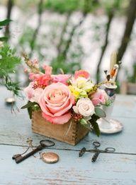 pretty peach florals