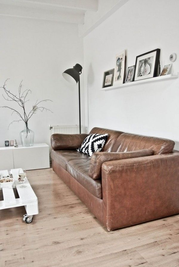 Bruin Leren Design Bank.Bruin Leren Bank Woonkamer Leather Sofa Living Room Brown Sofa