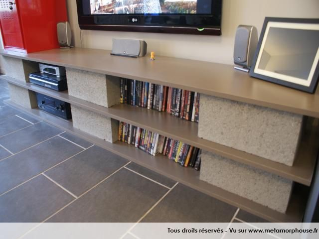 meuble tv a moindre coup planche et parpin metamorphouse. Black Bedroom Furniture Sets. Home Design Ideas