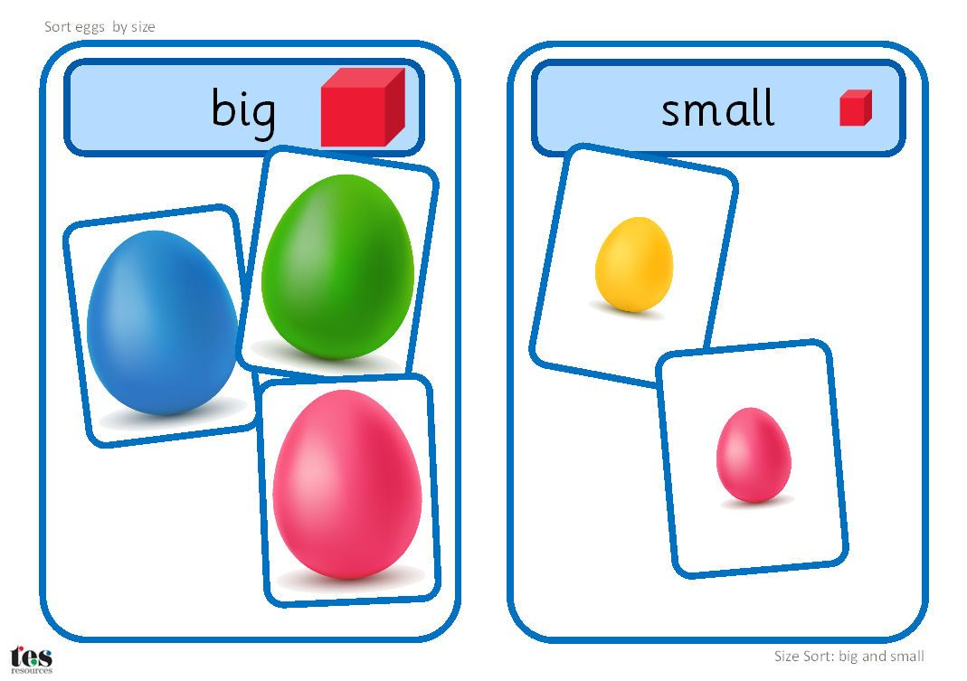 Big And Small Eggs Size Sort Teacch Activity Teacch Activities Teacch Big And Small [ 753 x 1069 Pixel ]