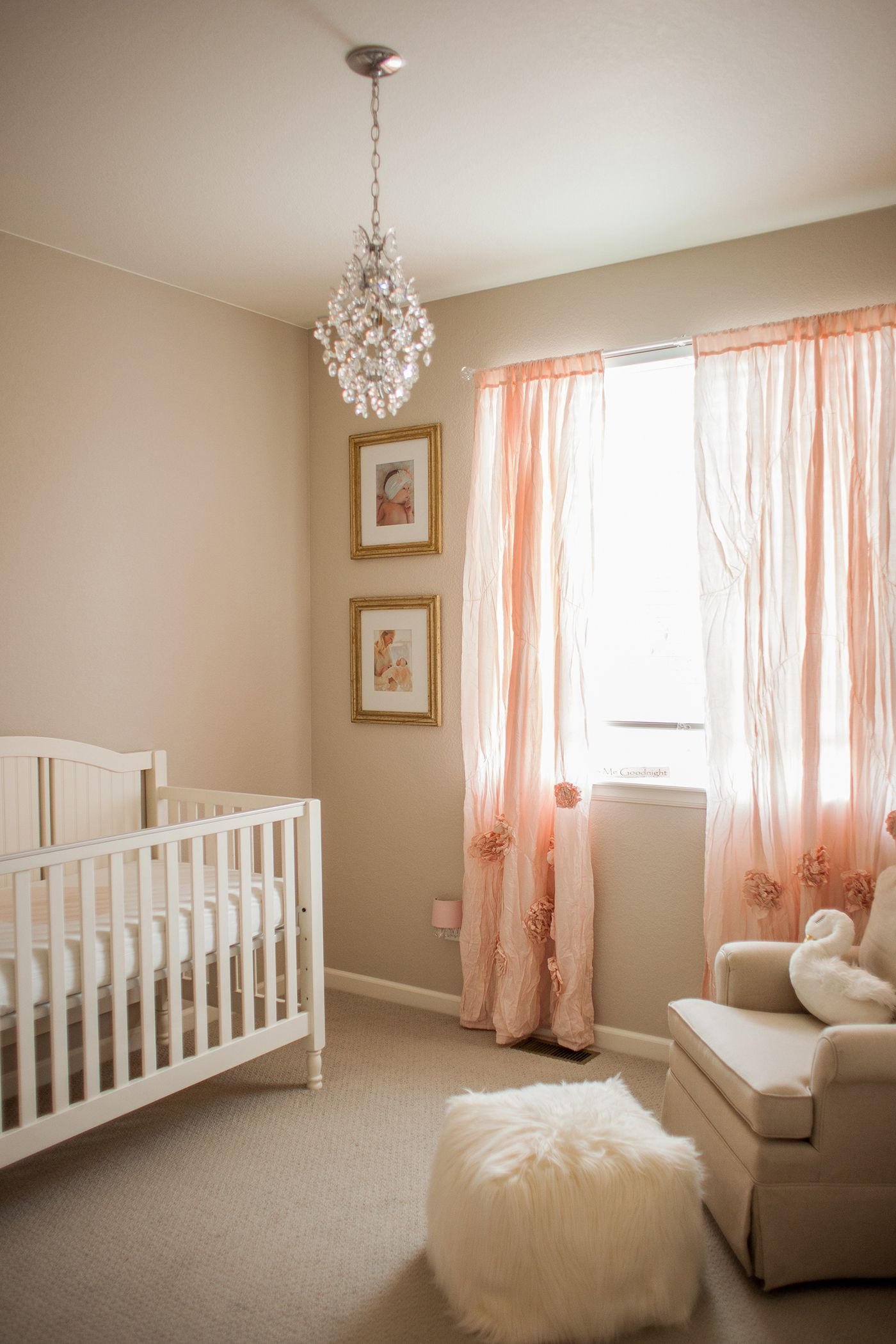 Blush-Gold-Floral-Room | Gold nursery decor, Girl room, Baby ...
