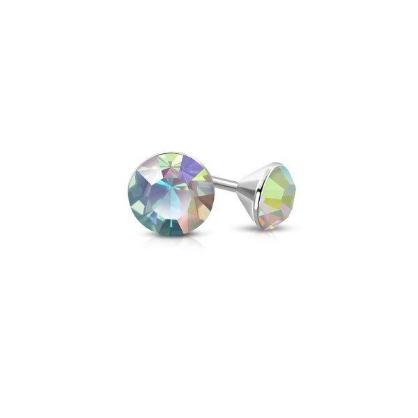 Stellux- kristallikorvakorut revontulen väreissä. Korvakorut neitstä, korvakorut miehelle, teräskorvakorut netistä www.korulipas.fi
