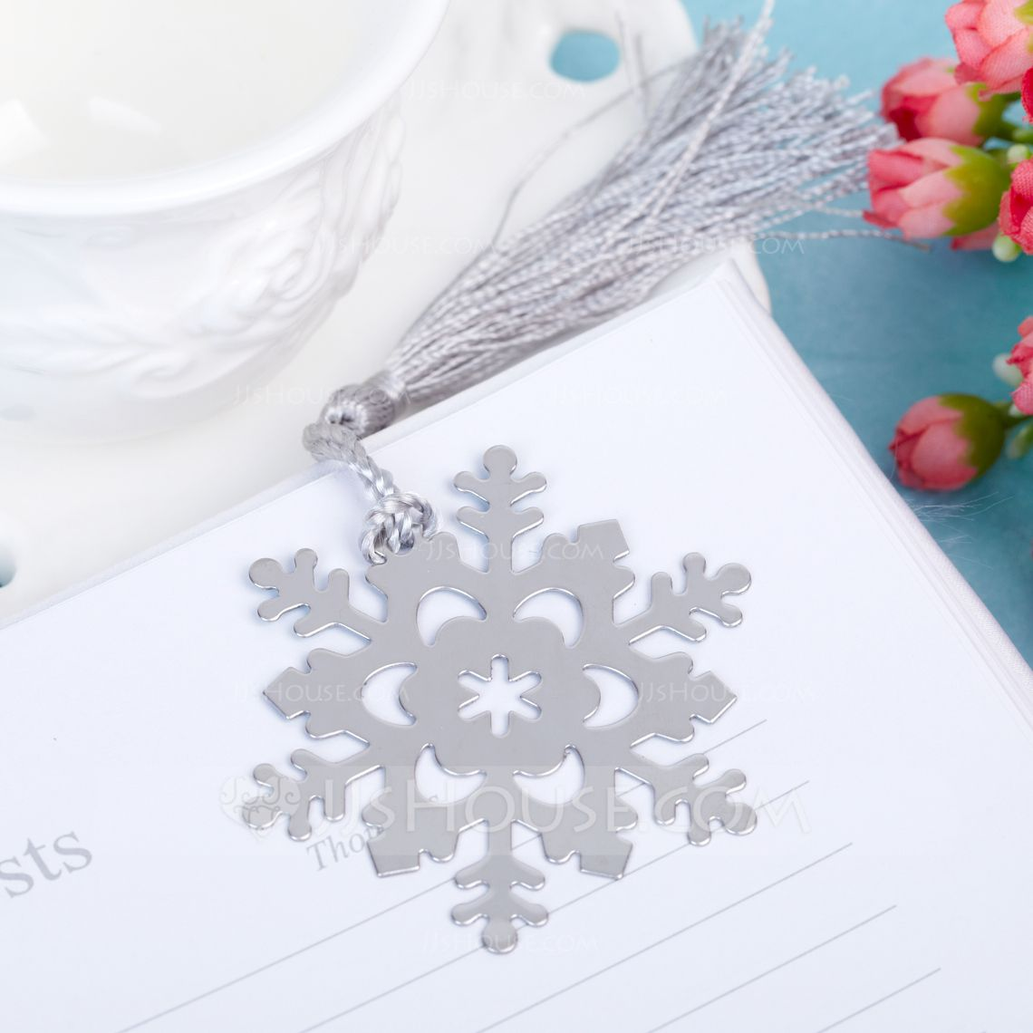 Snowflake Stainless Steel Bookmarks With Tassel (051005726 ...