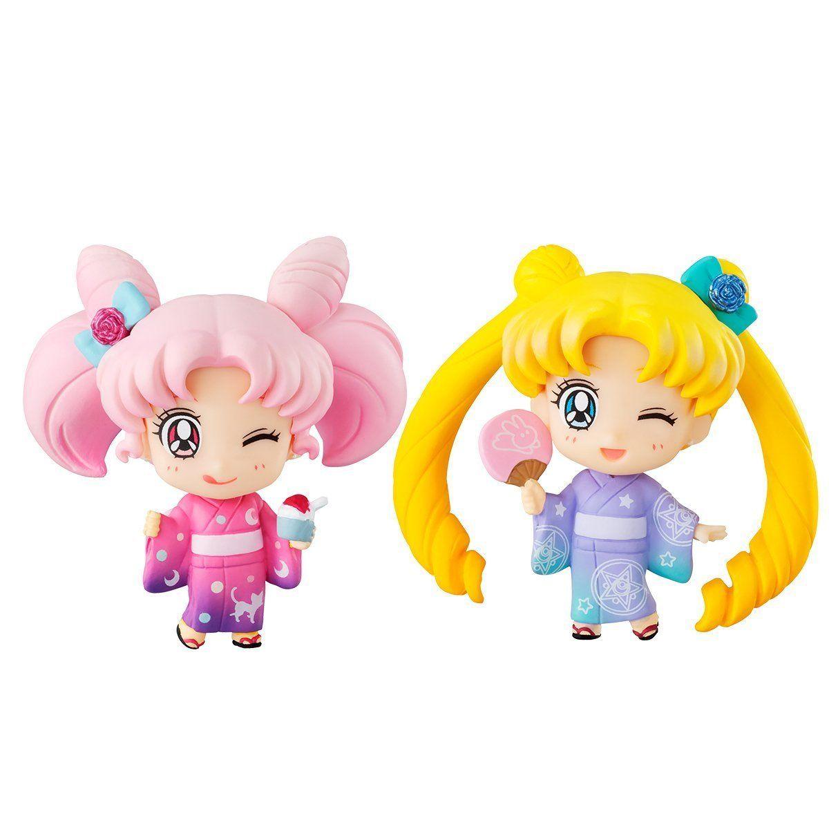 Set of 6 pcs Petit-Chara Pretty Guardian Sailor Moon Figure 2/'/'  new no box Gift