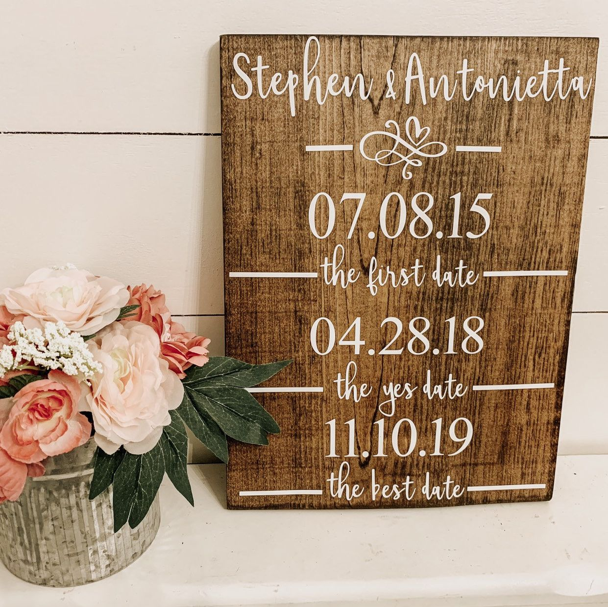 First Date Yes Date Best Date Engagement Wedding Date Etsy Wedding Date Sign Bridal Shower Signs Farmhouse Wedding