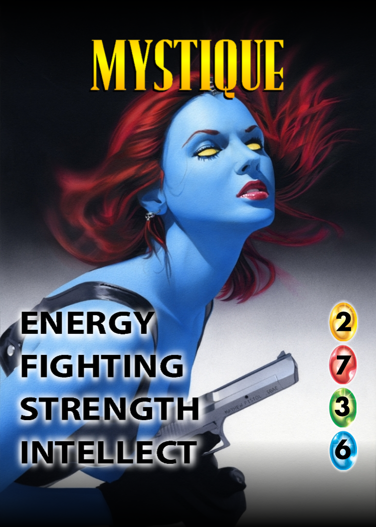 Mystique OverPower Character card Card games, Mystique
