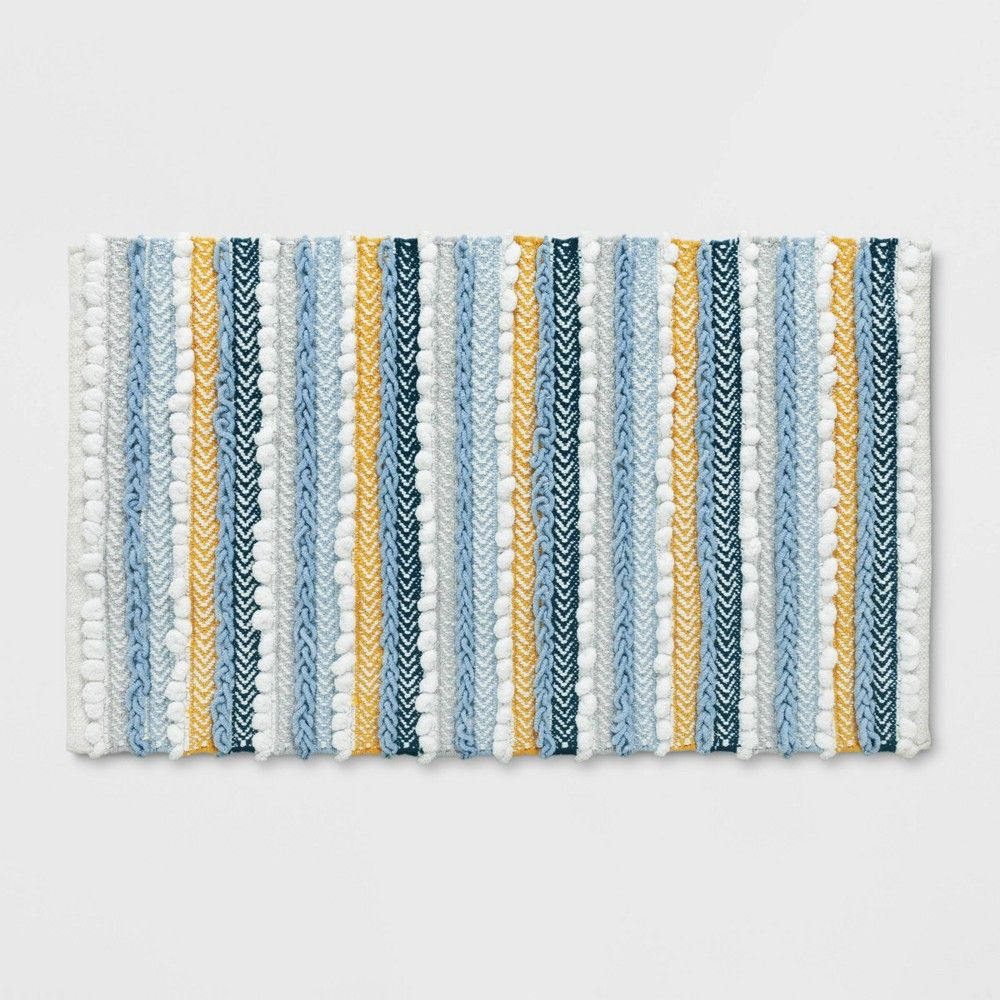 20 X32 Textured Bath Rug Aqua Opalhouse In 2021 Bath Rug Cotton Bath Rug Rugs [ 1000 x 1000 Pixel ]