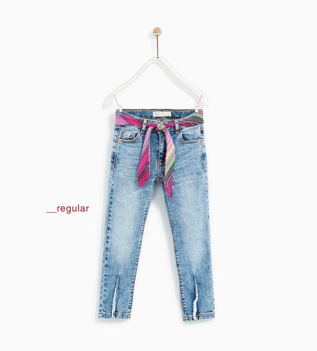 Vaqueros Para Nina Nueva Coleccion Online Zara Espana Pantalones Para Ninos Ropa Para Ninas Moda Para Ninas