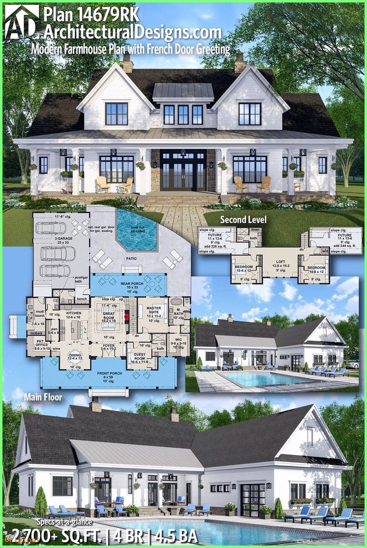 Diy Projects - Architectural Designs Farmhouse House Plan ... on gable house designs, fixer upper designs, farmhouse designs, stone building designs, ranch log homes, ranch homes with porches, front porch designs, bungalow designs, indian modern house designs, ranch photography, ranch dream homes, concrete homes designs, studio apartment designs, ranch front porch landscaping, ranch homes with sunrooms, ranch modular homes, shotgun house designs, ranch fashion, ranch luxury homes, townhome designs,
