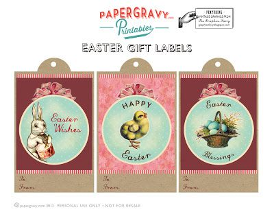 Printable vintage easter gift tags digital paper graphics printable vintage easter gift tags digital paper negle Gallery