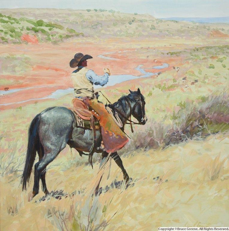 Bruce greene paintings drawings cowboy art
