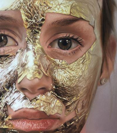 Gold leaf face