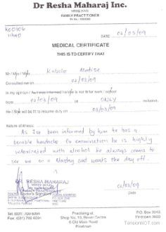 free doctors excuse note