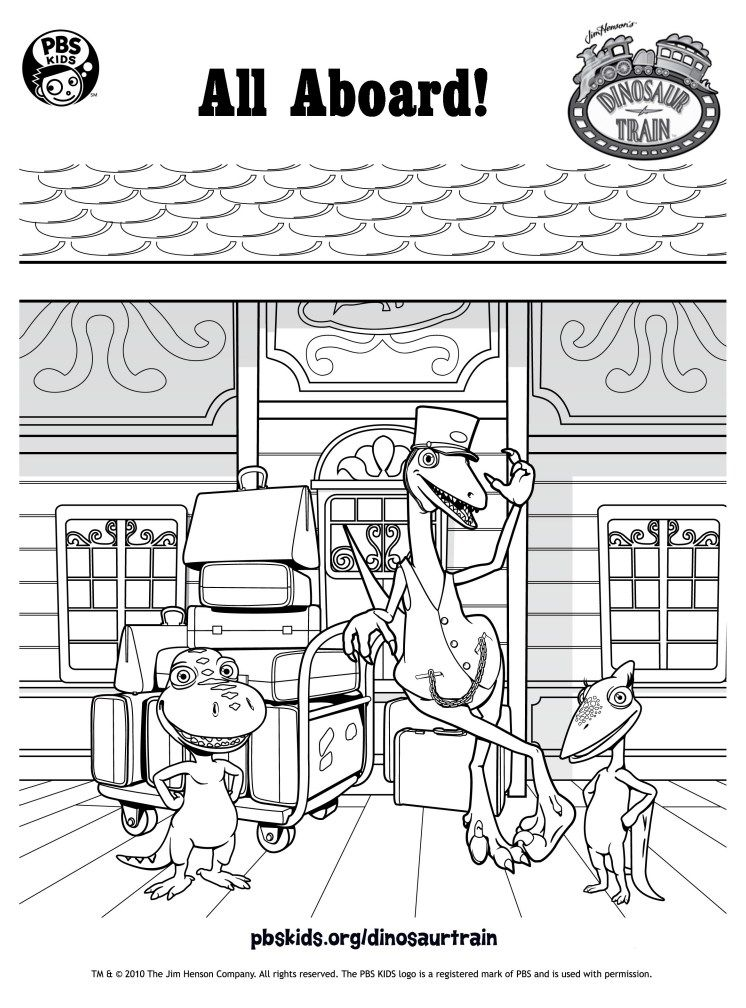 Dinosaur Train Dino Train Coloring Pages For Kids Train Coloring Pages