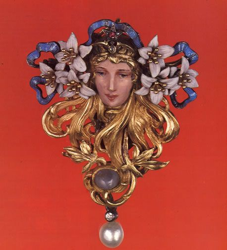 Brooch designed by Alphonse Mucha and made by Georges Fouquet, 1898