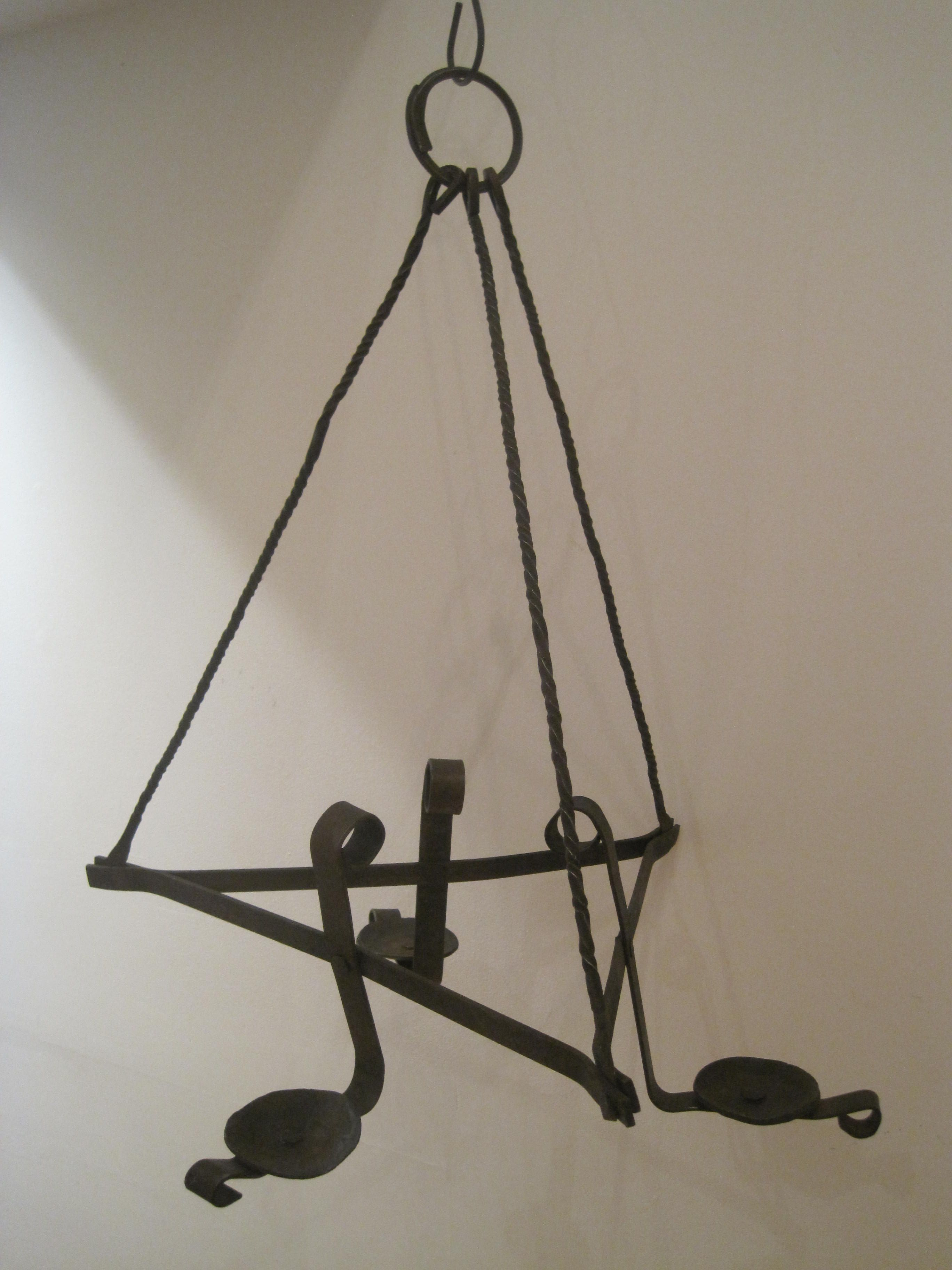 Antique 1700 s Revolutionary War Era Wrought Iron Candle