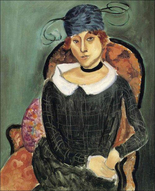 Henri Matisse, The Ostrich Feather Hat Escolhi este quadro porque achei interessante o chapeu da senhora