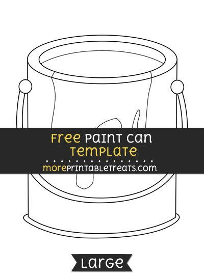Free Paint Can Template Large Shapes And Templates Printables