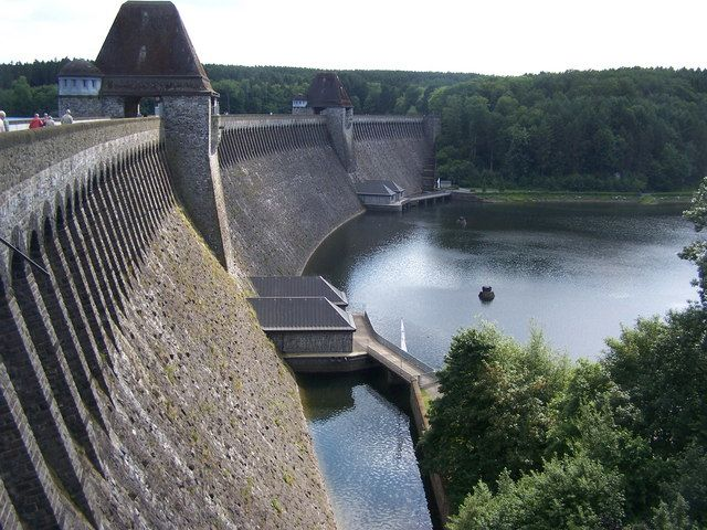 xGx Mohne Dam, near Soest, Germany. Remember walking over this dam with our Mum's and Dad's when they came to visit us 1987/88