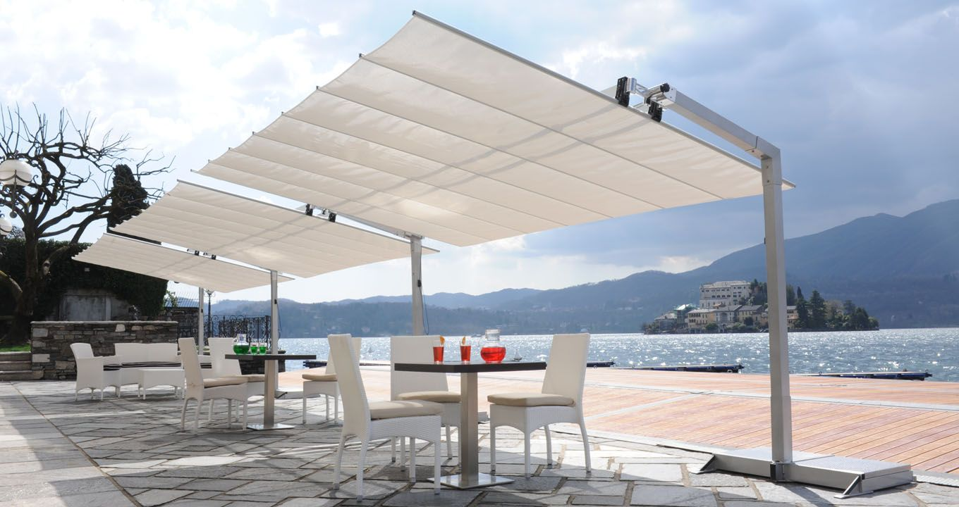 Large Umbrella Flexy Ideal For Terraces And Restaurants In Dubai And The  UAE. Tilting And Retractable.