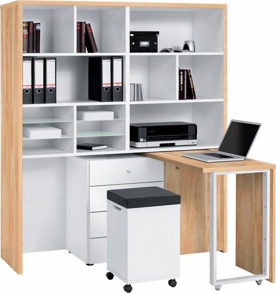 Maja Mobel Minioffice 9566 Regal Schreibtisch Einzimmerwohnung Einrichten Haus Deko