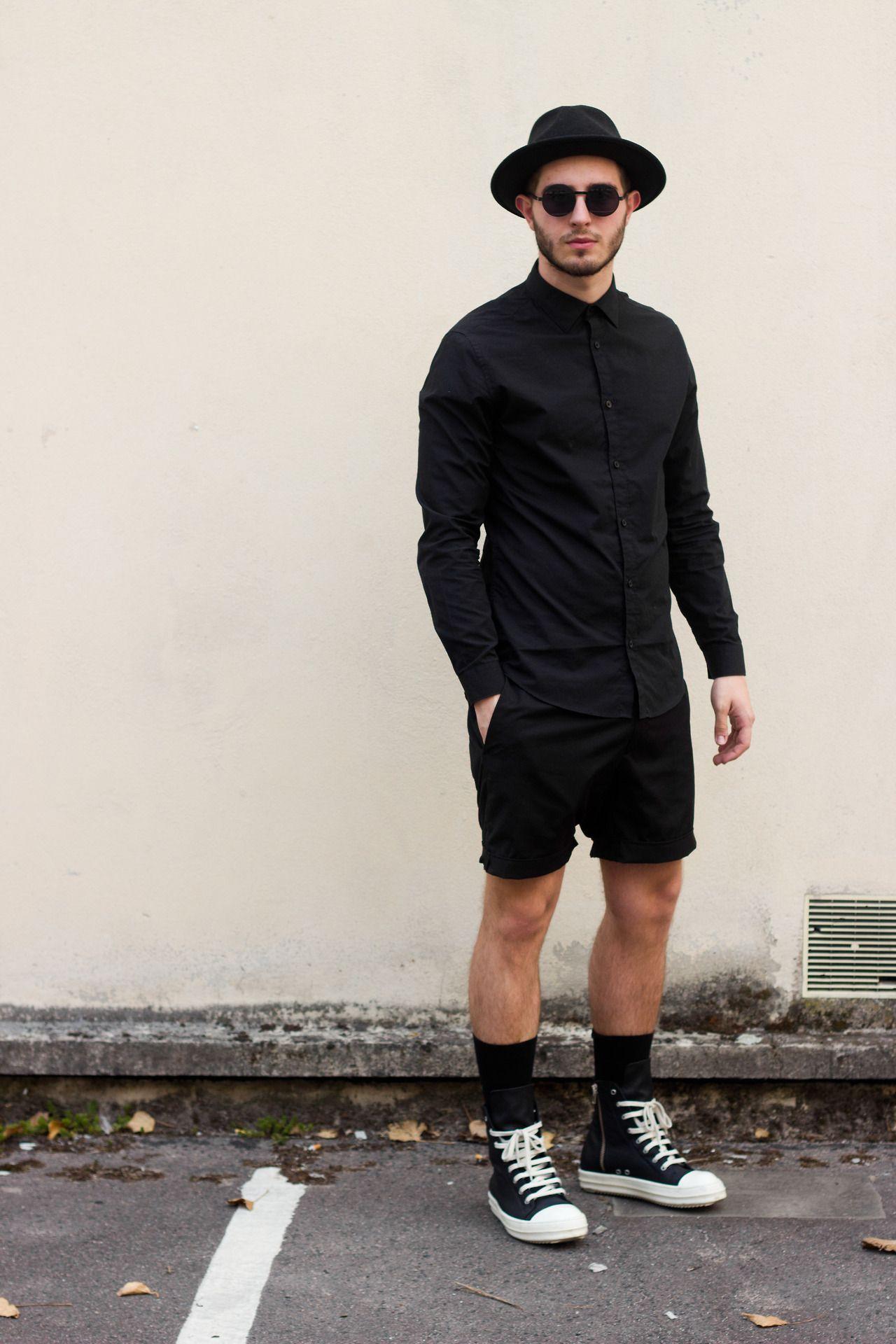 Black Lanoir Outfit and Rick Owens Ramones sneakers. - Nicolas Lauer ... b29b8d45c5a