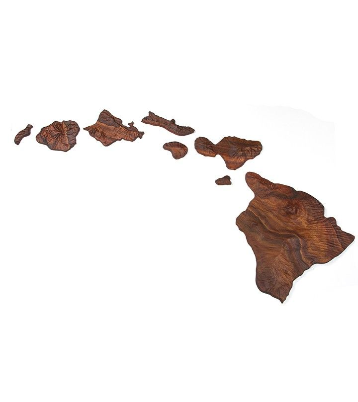 Koa Hawaiian Island Chain Large Island Chain Hawaiian Wall Art Hawaiian Islands