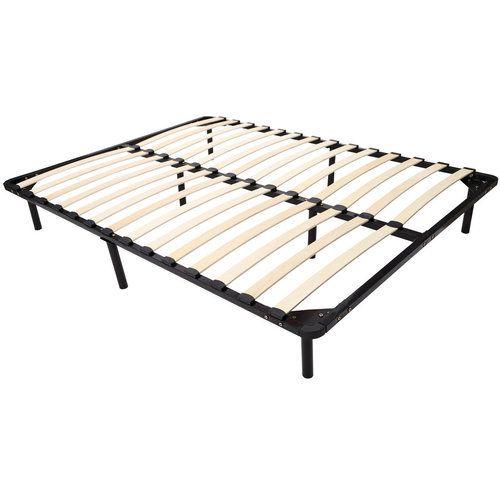 homcom queen size mattress wood slat platform bed frame - Wood Slat Bed Frame Queen