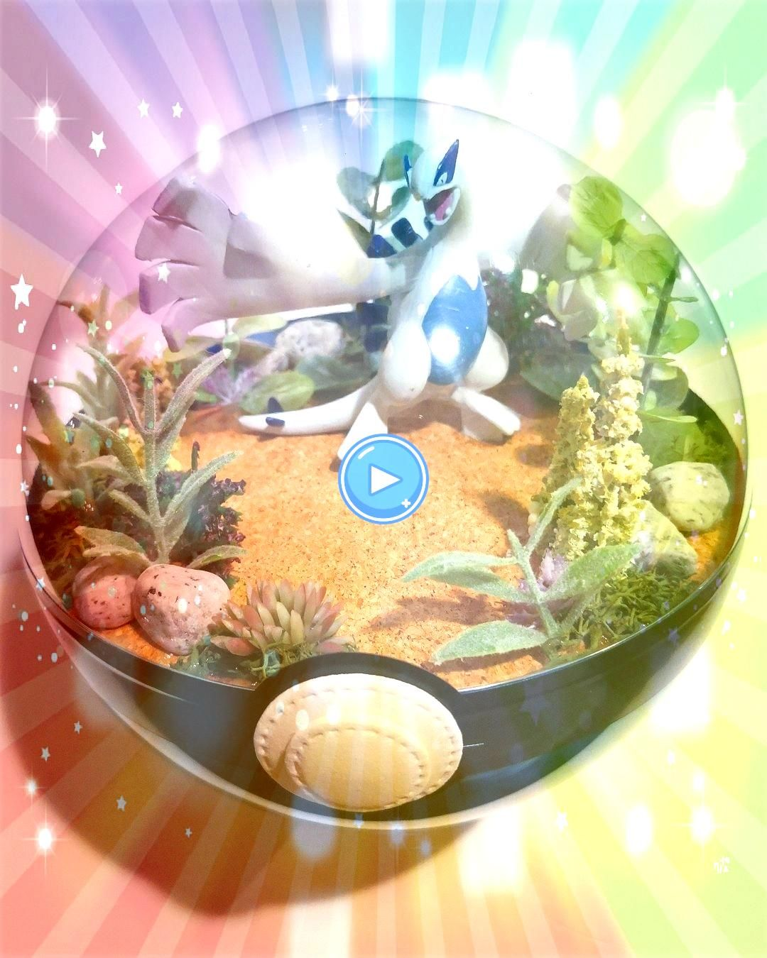 is all fired up and ready to handle anything  135 cm terrarium Lugia is all fired up and ready to handle anything  135 cm terrarium Snorlax pokeball terrarium  pokemon  c...