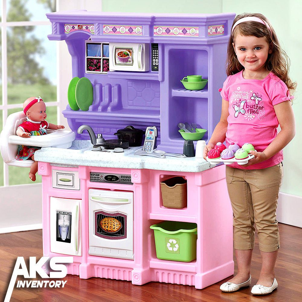 Little Kid Kitchen Play Sets Kids Pretend S Toys Cooking Set Toddlers Fun Fr