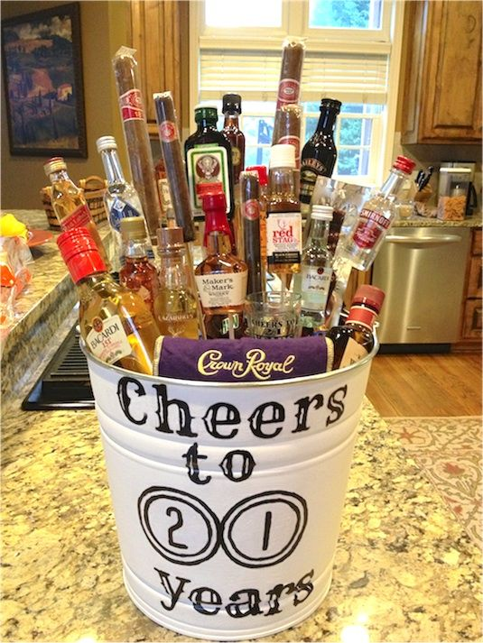 35 Easy DIY Gift Ideas Everyone Will Love Personalized Beer Glass With A Few Minis Would Be Great Birthday