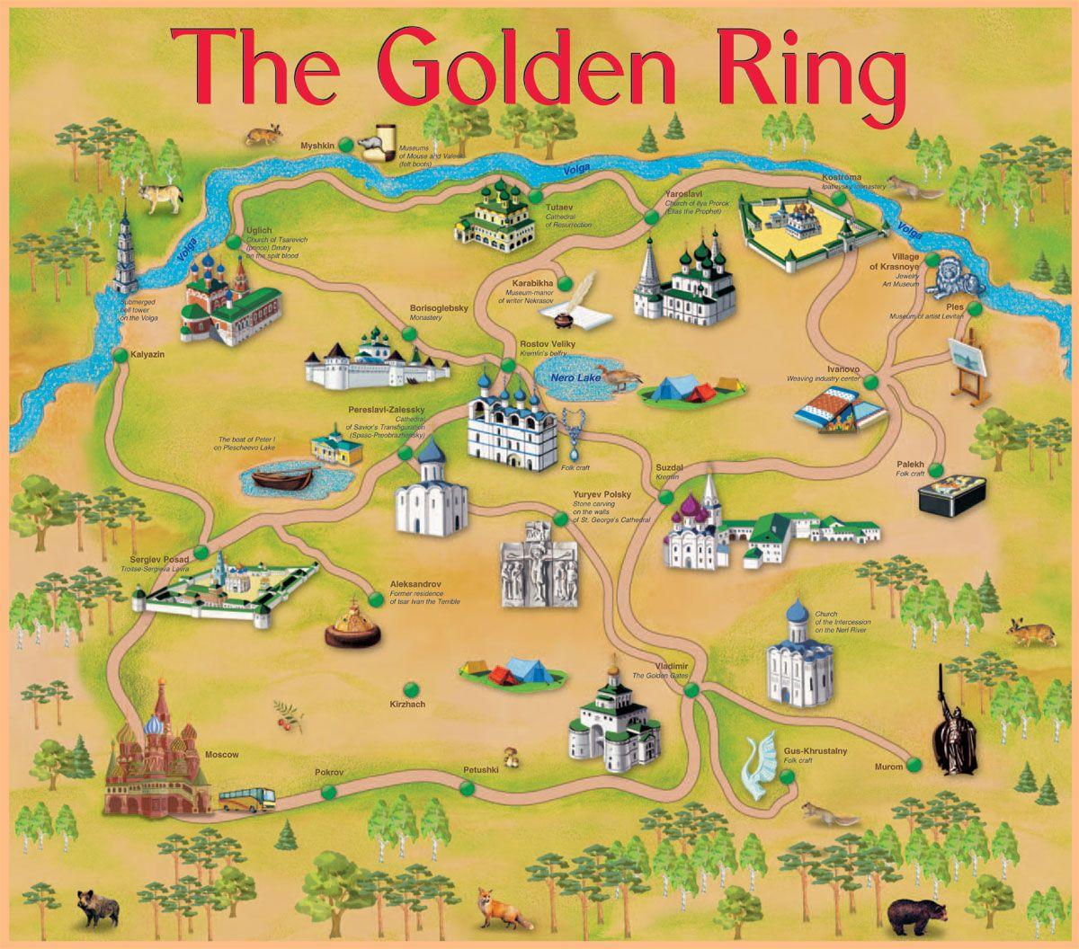 The Golden Ring Map Golden Ring Golden Ring Russia Map