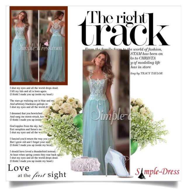 """""""Simple-dress# II-16"""" by merima-musanovic ❤ liked on Polyvore featuring Chloe Gosselin, Ethan Allen, Prom, Spring, dress, wedding and bridal"""
